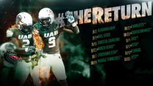 UAB Schedule 2017